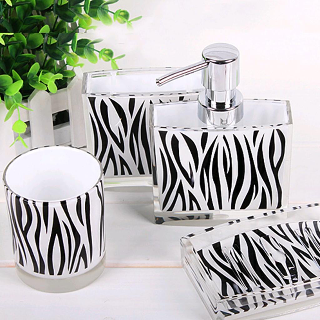 Zebra bathroom set for Animal bathroom decor