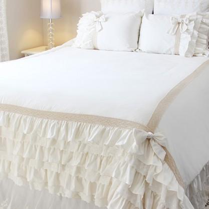 Bed Skirts Shabby Chic Curtain Panels Balloon Shade
