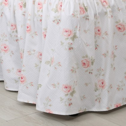 Rose Ruffle Bedskirt in Cream
