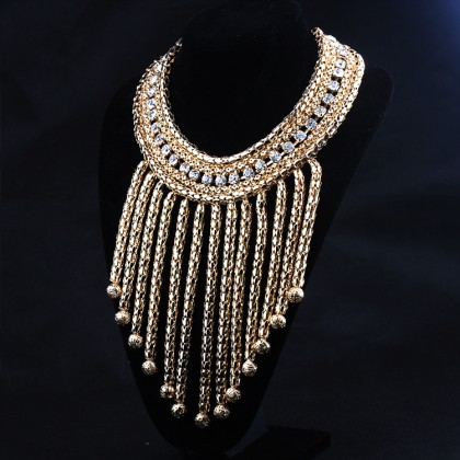 Crystal Chain Bib Necklace