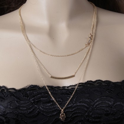Lariat Layering Cross Bar Necklace