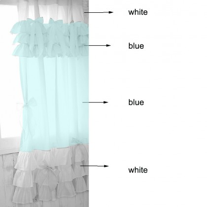 Cinderella Light Blue Ruffle Curtain
