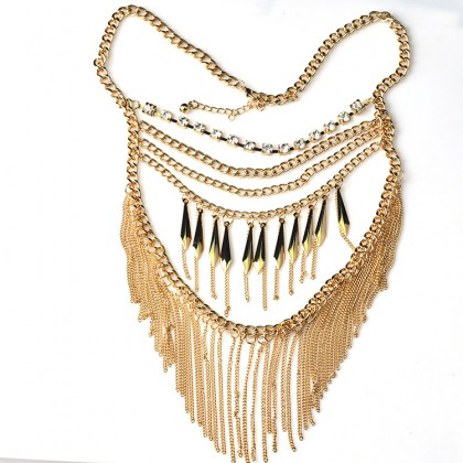 Boho Tassel Chain Necklace