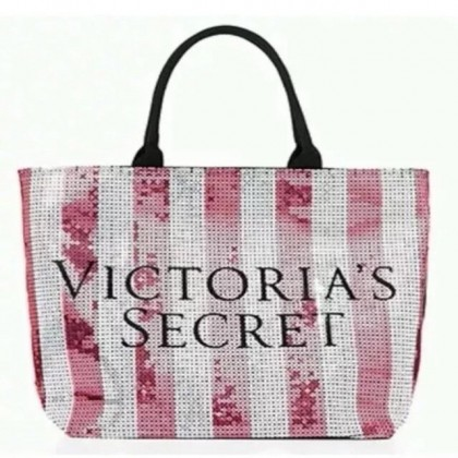 Victoria's Secret Pink Limited Edition Sequin Large Tote Bag