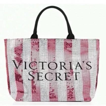 Victoria's Secret Pink Limited Edition Sequin Large Tote Bag