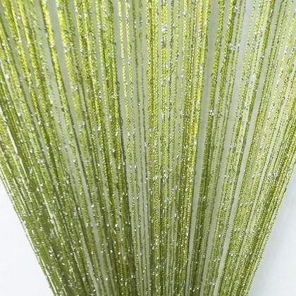Green Silver String Curtain