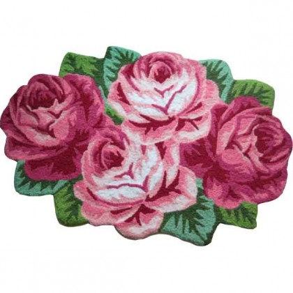 Victorian Roses Rug Large