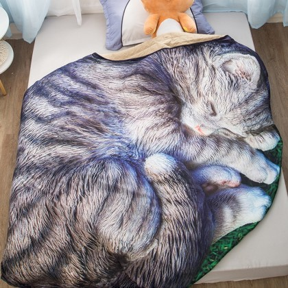Sleeping Cat Throw Blanket