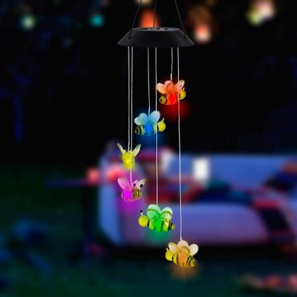 Solar Garden Hanging Bee Decoration Light