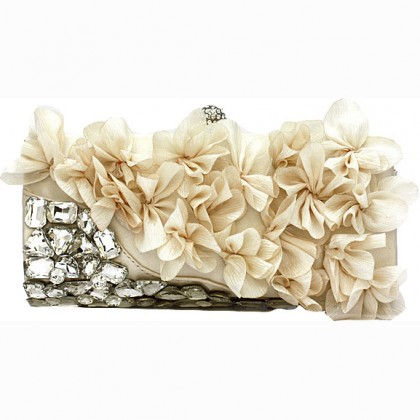 Pedal Flower Purse,  Almond