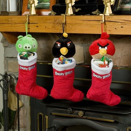 Angry Birds Christmas Plush Stockings