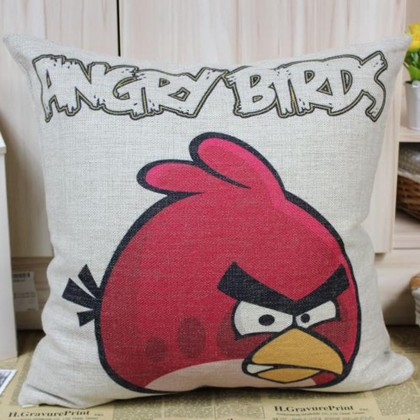 Male Angry Bird Cushion Cover