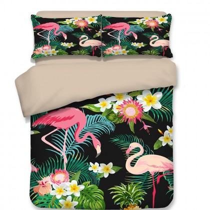 Flamingo Zoo Duvet Cover Set