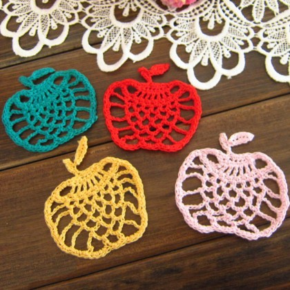 Apple Crochet Doily