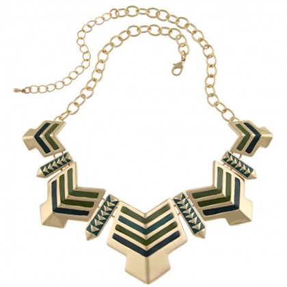 Egyptian Green Arrow Necklace