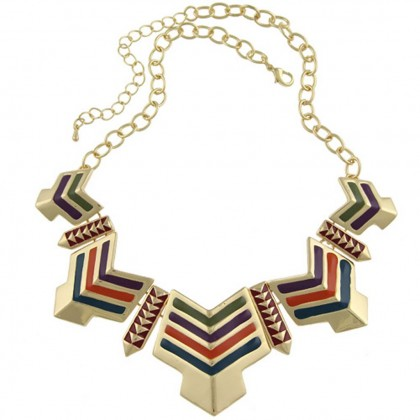 Egyptian Orange Arrow Necklace