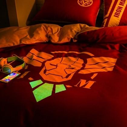 Glow in Dark Iron Man Duvet Cover Set