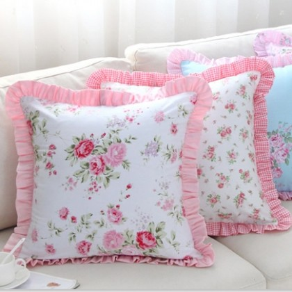 Romantic Ruffle Cushion Cover