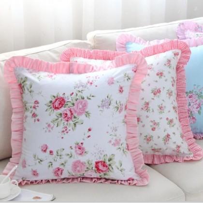 Romantic Ruffle Cushion Cover