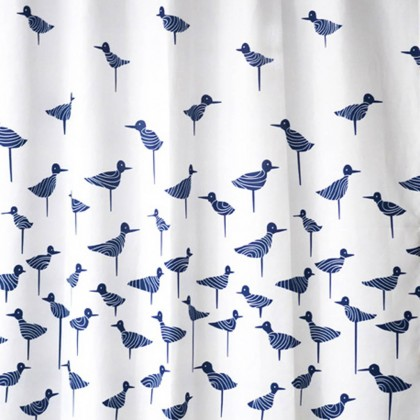 Blue Sandpiper Shower Curtain