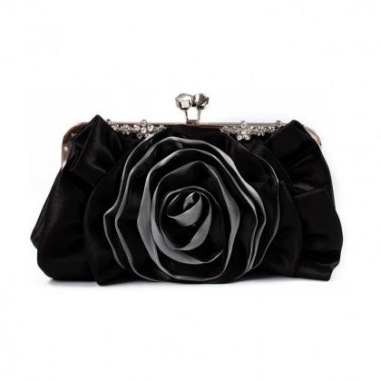 Blooming Rose Purse,  Black