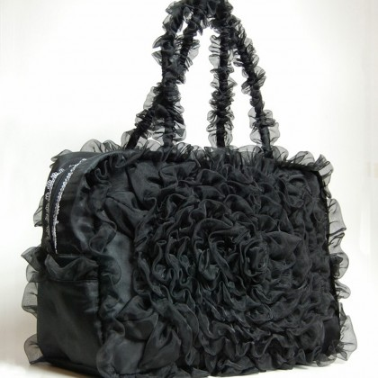 Black Ruffled Bag