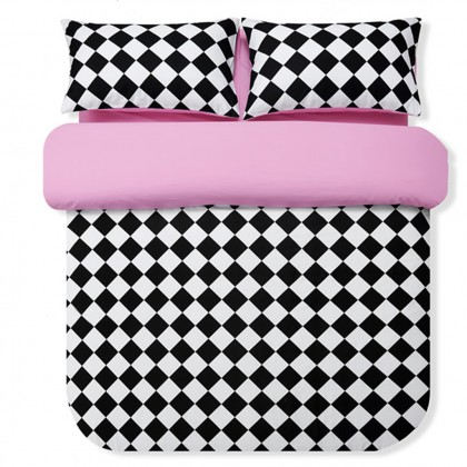 Diamond Type Lattice Duvet Cover Set