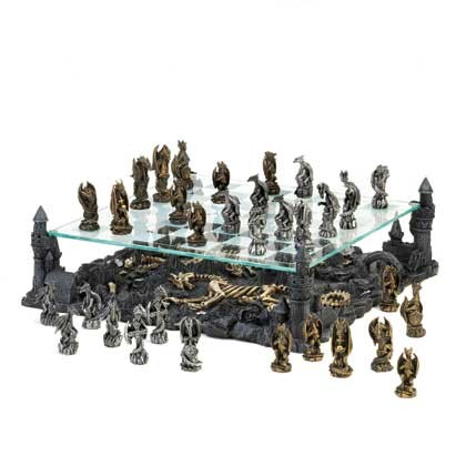 Black Dragon Chess Set