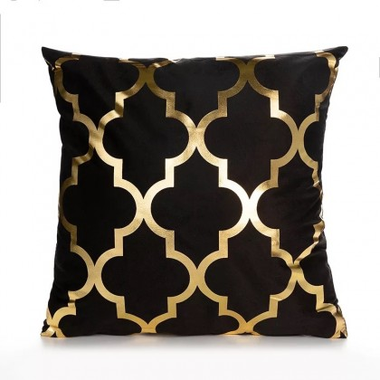 Gold Black Cushion Cover