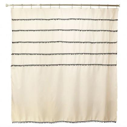 Pom Pom Fashion Shower Curtain