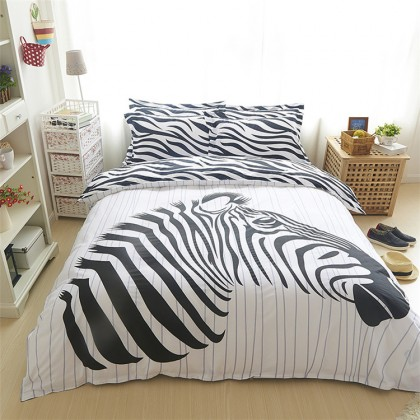 Zebra Stripe Duvet Cover Set