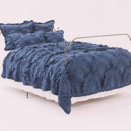 Rivulets Blue 3pcs Quilt Bedding