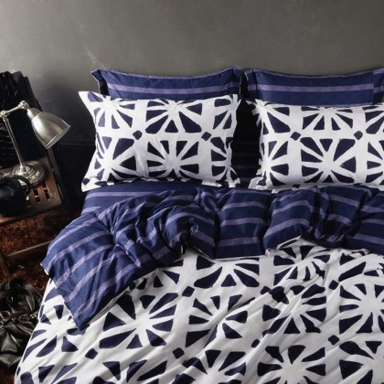 Blue Boho Duvet Cover Set
