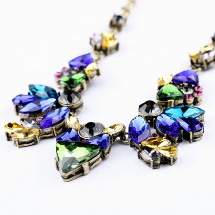 Tropical Treasure Crystal Necklace