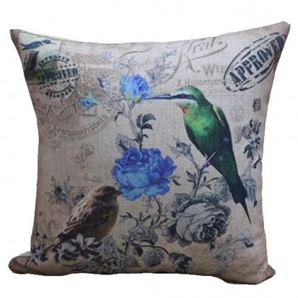 Blue Rose Cushion Cover