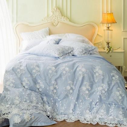 Dream Wedding Egyptian Cotton Duvet Cover Set-Blue