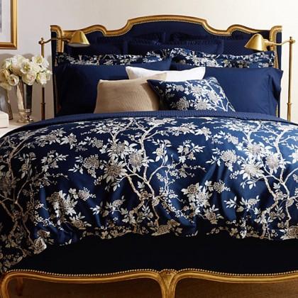Classic Deep Blue Deauville Duvet Cover Set