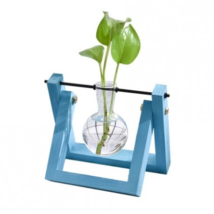 Blue Flower Vase Hydroponic Planter