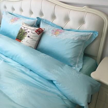 Blue Flower Bouquet Duvet Cover