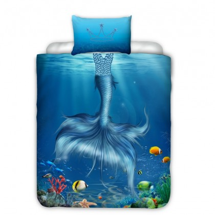 Blue Mermaid Duvet Cover Set