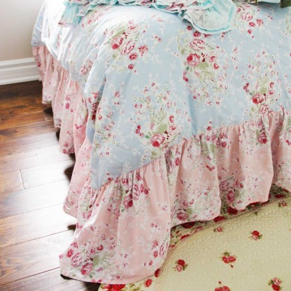 Mermaid Long Ruffle Duvet Cover Set