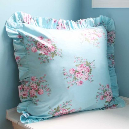 Shabby Bella Rose Decorative Pillow Covers