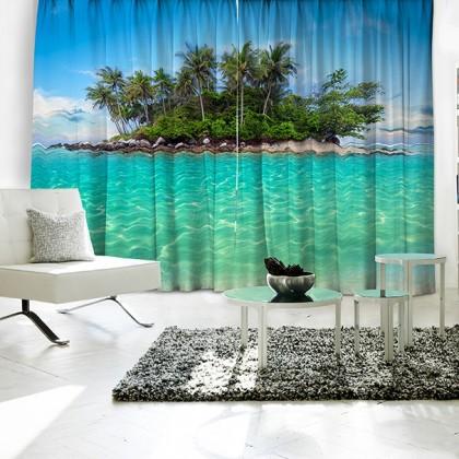 Island Ocean Curtain Set