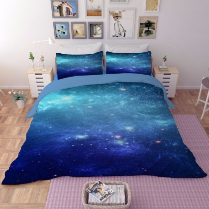 Blue Stars Duvet Cover Set