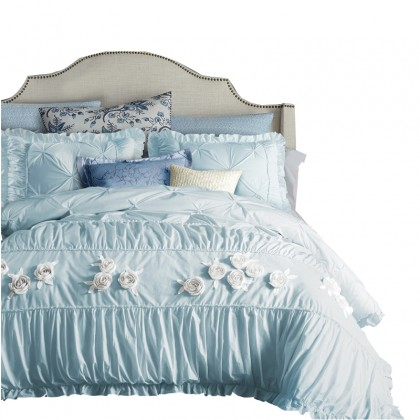 Princess Ruched Duvet Cover Set