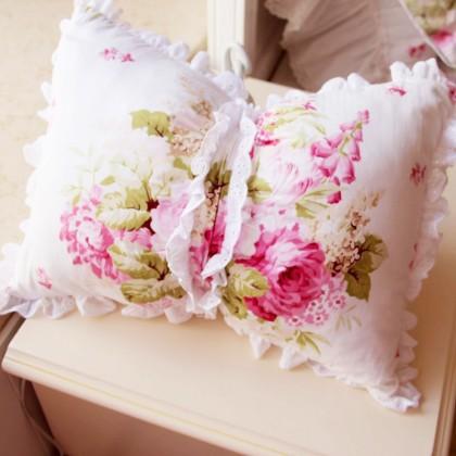 Princess Lace Ruffle Bolster Pillow