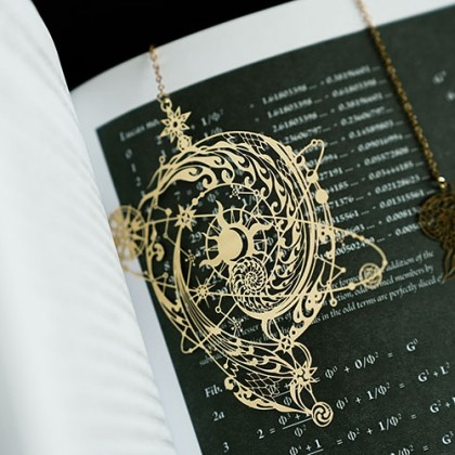 Moon Star Cosmic Eteched Bookmark