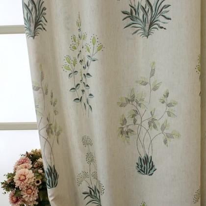 Vintage Botanical Curtain
