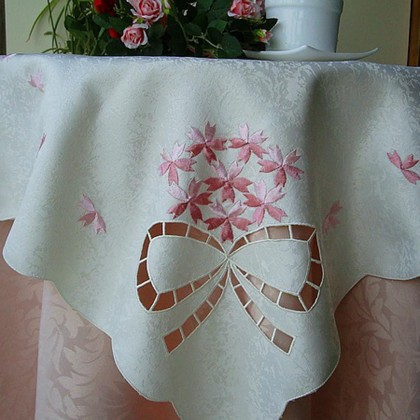 Bow Cutwork Embroidery Tablecloth