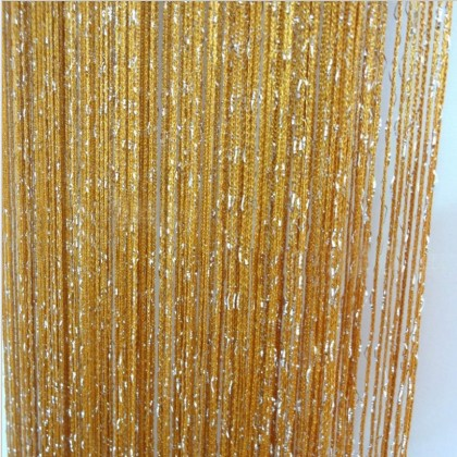 Bronze Silver String Curtain